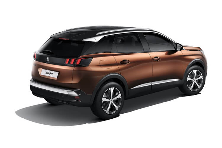 Peugeot 3008 SUV 1.5 BlueHDi 130PS GT 5Dr Manual [Start Stop] back view