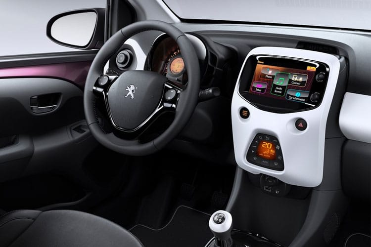 Peugeot 108 Hatch 5Dr 1.0  72PS Active 5Dr Manual [Start Stop] inside view